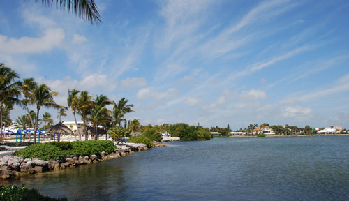 Waterfront homes in the Florida Keys